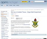 Set Up an Isolated Tissue - Organ Bath Experiment