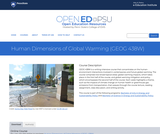 Human Dimensions of Global Warming