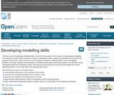 Developing Modelling Skills