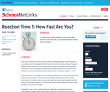 Reaction Time 1: How Fast Are You ?