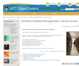 Evidence Based Management Library Guide