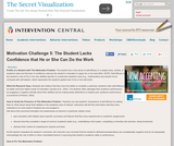Motivation Challenge 5: Student Lacks Confidence that He or She Can Do the Work