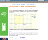 Area and Perimeter of a square (Coordinate Geometry)