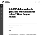 Which Number is Greater? Which Number is Less? How Do You Know?