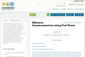 Effective Communication using Past Tense
