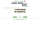 Make Your Own Mini Mini Golf Course