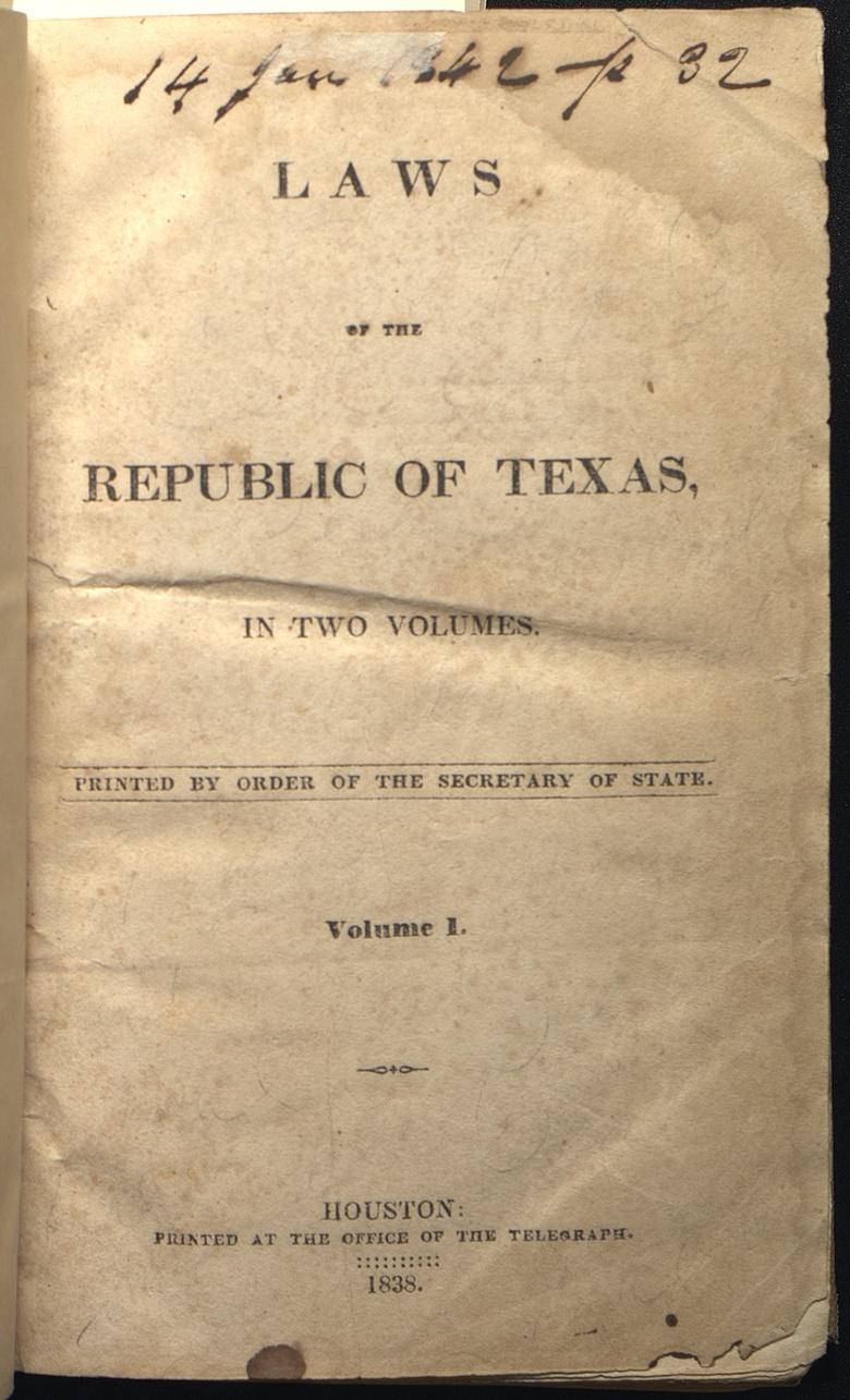 Constitution of the Republic of Texas (1836)