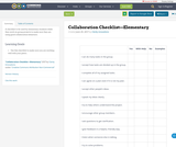 Collaboration Checklist—Elementary