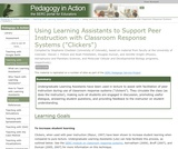 "Using Learning Assistants to Support Peer Instruction with Classroom Response Systems (""Clickers"")"