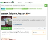 Creating Embryonic Stem Cell Lines