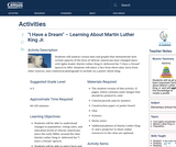 """""""I Have a Dream"""" – Learning About Martin Luther King Jr."""