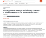 Biogeographic patterns and climate change – a teaching resource for university lecturers – Atlas of Living Australia