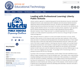 Leading with Professional Learning: Liberty Public Schools