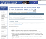 The Effect of Race and Ethnicity on High School Graduation Rates in Florida