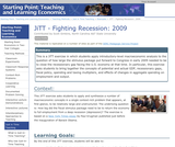 JiTT - Fighting Recession: 2009