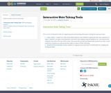 Interactive Note Taking Tools