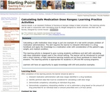 Calculating Safe Medication Dose Ranges: Learning Practice Activities