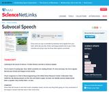 Subvocal Speech