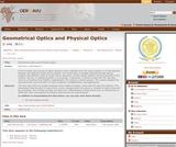Geometrical Optics and Physical Optics