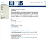 Vorlesung: Einführung in die Computerlinguistik