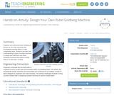 Design Your Own Rube Goldberg Machine