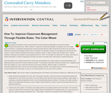 RTI: Improve Classroom Management Through Flexible Rules - The Color Wheel