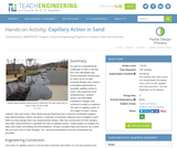 Capillary Action in Sand