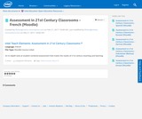 Assessment in 21st Century Classrooms - French (Moodle)