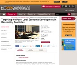 Targeting the Poor: Local Economic Development in Developing Countries, Spring 2010
