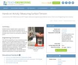 Measuring Surface Tension
