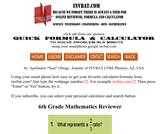 6th Grade Math Assessment Reviewer