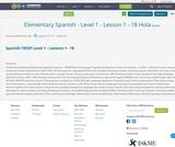 Elementary Spanish - Level 1 - Lesson 1 - 18 Hola