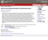 Open Source Energy Simulation for Elementary School