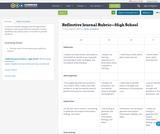 Reflective Journal Rubric—High School