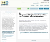 E1 Wraparound Implementation within the California Well-Being Project