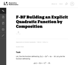 Building an Explicit Quadratic Function by  Composition