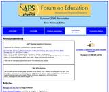 APS Forum on Education Summer 2006 Newsletter
