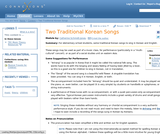 Two Traditional Korean Songs