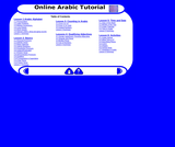 Online Arabic Tutorial