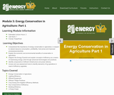 Module 3: Energy Conservation in Agriculture: Part 1