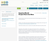 Inquiry-Based Project-Save the Bees