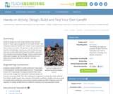 Design, Build and Test Your Own Landfill