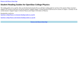 Reading Guides for OpenStax College Physics