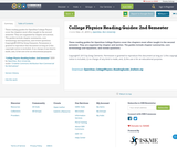 College Physics Reading Guides: 2nd Semester