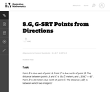8.G, G-SRT Points from Directions