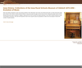 Collections of the Iowa Rural Schools Museum of Odebolt 1870-1950 - Evolution of Music