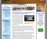 17e. Mount Vernon and the Dilemma of a Revolutionary Slave Holder