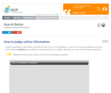 Judging Online Information Tutorial