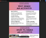 Why and How to Remix an Activity