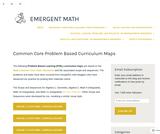 Common Core Problem Based Curriculum Maps – emergent math